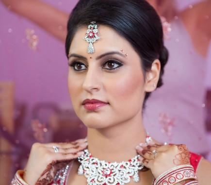 bridal prep for hindu wedding