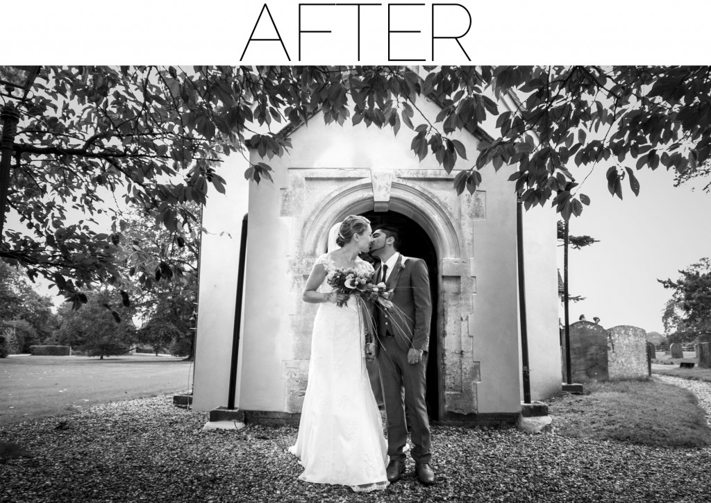church wedding kiss - after aldermaston