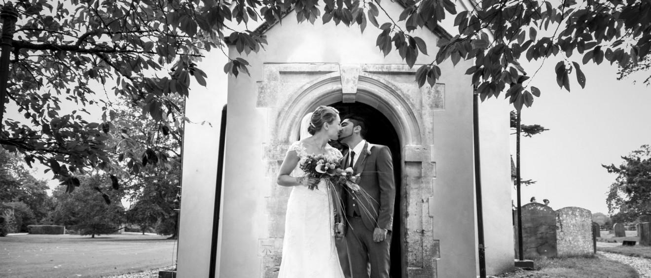 church wedding kiss - after aldermaston