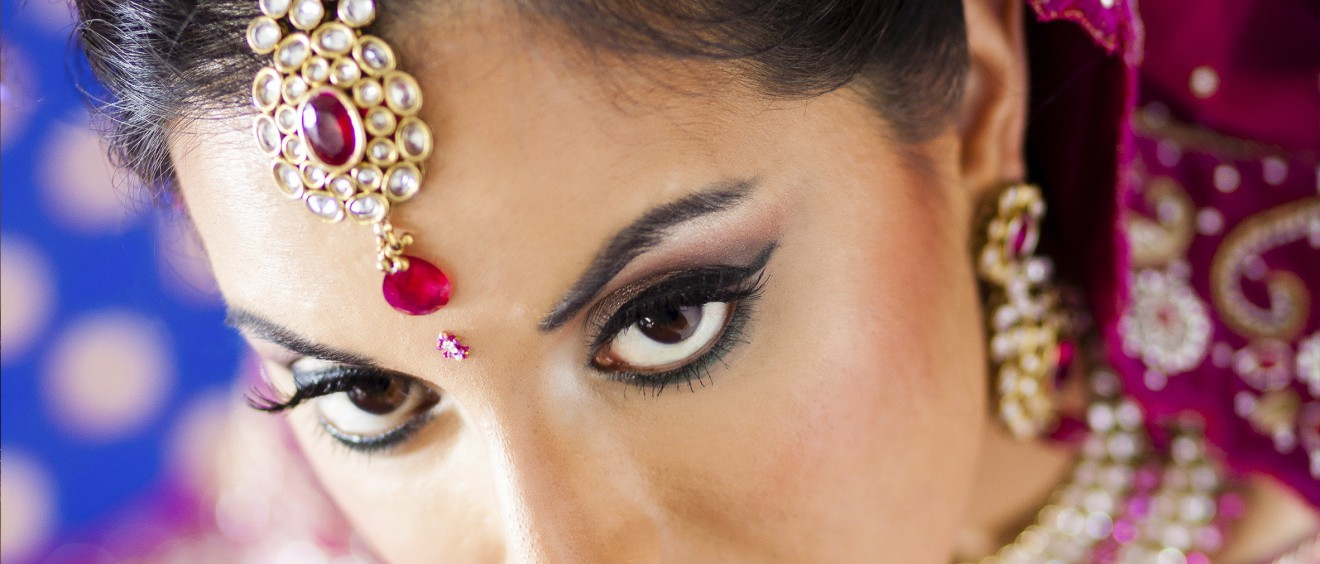 asian bride close up - before - after 2